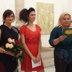 With Renata Peroš director of National museum Zadarand artist Andrea Musa