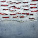 Long cuts, 130x180cm, mixed media on wood panel, 2017