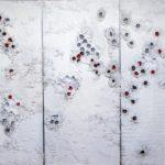 ZNAKOVI ŽIVOTA, 3x60x130cm,kombinirana tehnika na drvenom panelu, 2017
